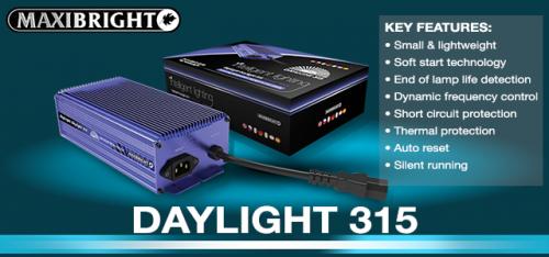 Daylight 315w hortigultural lighting power pack